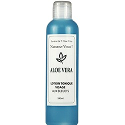 LOTION TONIQUE ALOE VERA - BLEUET 200ML.